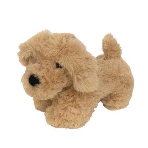 Knuffel hond beige - ondersteun een goed doel