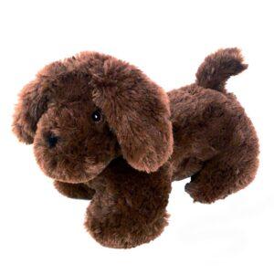 Knuffel hond donkerbruin - ondersteun een goed doel