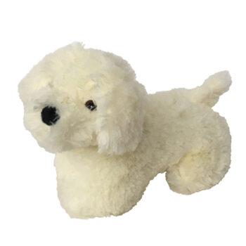 Knuffel hond wit - ondersteun een goed doel